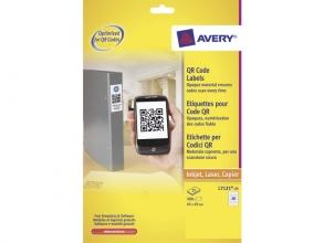, produktetiket Avery 45x45mm wit 25 vel 20 etiketten per vel