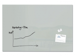 , Glasmagneetbord Artverum grijs 1500x1000x18mm incl.2        magneten