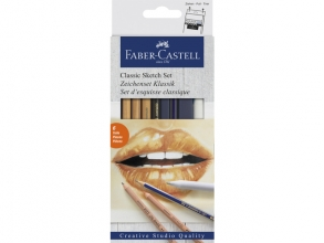 , Grafietpotloden Faber Castell Goldfaber Classic set 6-delig