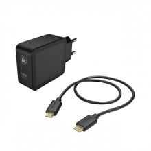 , Oplader Hama USB-C 18W 1,5 meter zwart