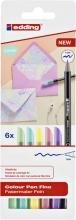 , Fineliner edding 1200 pastel assorti 0.5-1mm blister à 6 stuks