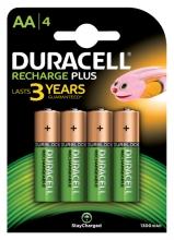 , Batterij oplaadbaar Duracell 4xAA 1300mAh Plus