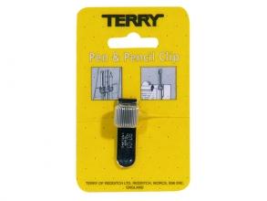 , Terry Clip tbv 1 pennen/potlood zilverkleurig