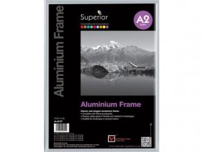 , Fotolijst Seco A2 zilverkleur Geborsteld aluminium. 11mm
