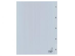 , Tabbladen Kangaro 4-gaats G405C 1-5 genummerd grijs PP