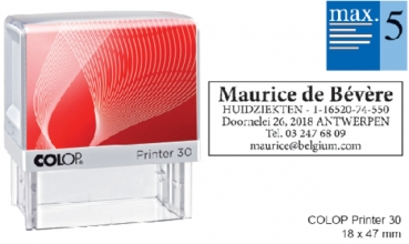 , Tekststempel Colop Printer 30 +bon 5regels 47x18mm