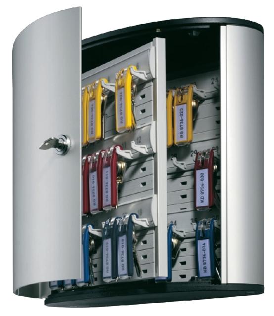 ,Sleutelkast Durable 1952 aluminium 36haken 302x280x118mm