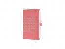 ,notitieboek Sigel Jolie Impress A6 hardcover gelinieerd     `Salmon Pink`