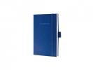 ,notitieboek Sigel Conceptum Look Felt A6 blanco softcover   koningsblauw