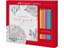 ,kleurset Faber-Castell met 8 Grip kleurpotloden en 1        kleurboek feel good
