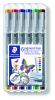 ,<b>Fineliner Staedtler Pigment 308 0.3mm set à 6st assorti</b>