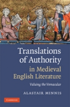 Minnis, Alastair Translations of Authority in Medieval English Literature