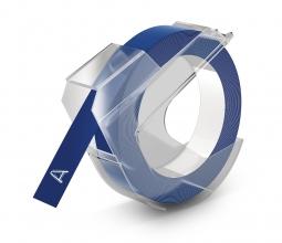 , Dymo lettertape 9mm blauw