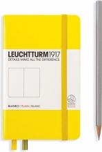, Leuchtturm notitieboek pocket 90x150 blanco yellow