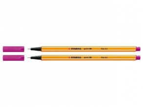 , Fineliner STABILO point 88/56 roze rood