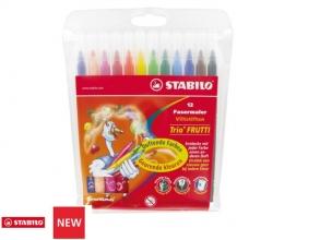 , Viltstift STABILO Trio Frutti 290 etui à 12 kleuren