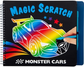 , Monster cars magic scratch boek