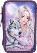 , Fantasymodel 3-vaks etui wolf led