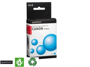 , Inktcartridge Quantore Canon CLI-8 blauw+chip