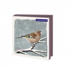 Wmc1016 , Kerstkaart mapje 10 stuks met env natuurmonumenten myrthe dieren in de winter
