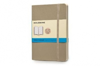 Moleskine Classic Colored Notebook, Pocket, Dotted, Khaki Beige