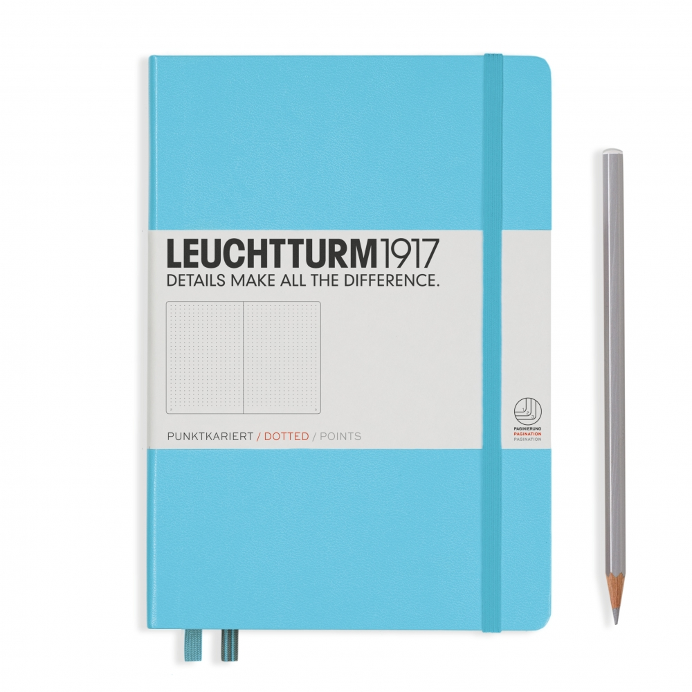 Lt357483,Leuchtturm notitieboek medium 145x210 blanco ijsblauw