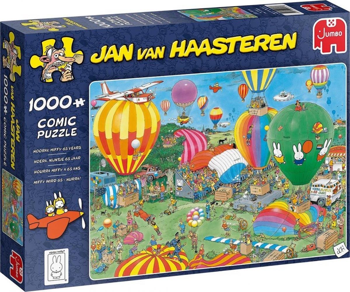 Jum-20024,Puzzel hoera, nijntje65 jaar - jan van haasteren 1000