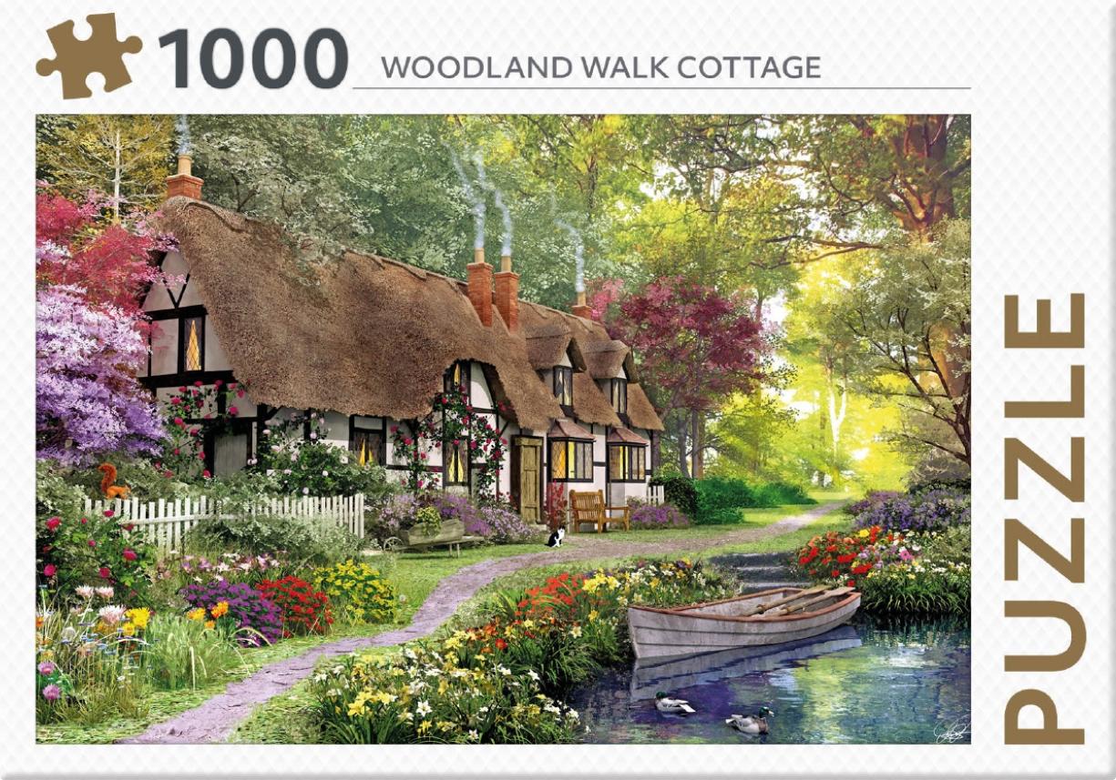 ,Rebo legpuzzel 1000 stukjes - Woodland Walk Cottage