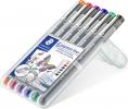 <b>Fineliner Staedtler Pigment 308 0.3mm set à 6st assorti</b>,