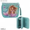 0010393 a , Fantasy model portemonnee mermaid blauw