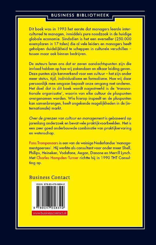 Fons Trompenaars, Charles Hampden-Turner,Over de grenzen van cultuur en management