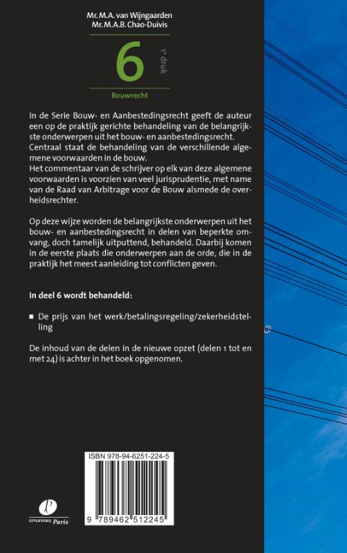 M.A. van Wijngaarden, M.A.B. Chao-Duivis,Bouw- en aanbestedingsrecht 6