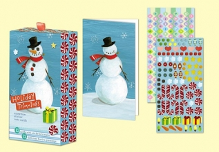 Snowman Holiday Sticker Note Cards [With 4 Sticker Sheets and 12 Cards and 13 Envelopes]
