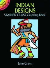 John Green Indian Designs Stained Glass Colouring Book