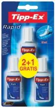 , Correctievloeistof Tipp-ex Rapid 20ml foam 2+1gratis blister