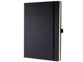 , notitieboek Sigel Conceptum Pure hardcover A4+ zwart geruit