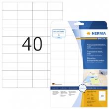 , Etiket Herma 4684 52.5x29.7mm A4 folie transparant mat