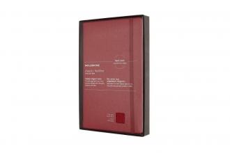 , Moleskine LE Notitieboek Leer Large (13x21cm) Gelinieerd Harde Kaft Bordeaux Rood
