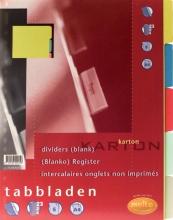 , Tabbladen Multo A4 23R karton 5-delig assorti