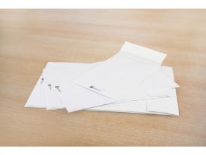 , envelop Raadhuis Securitex C4 229x324mm venster links wit   doos met 100 stuks