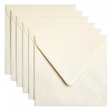 , Envelop Papicolor 140x140mm metallic ivoor
