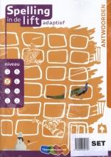 , Spelling in de lift adaptief antwoorboekje niveau 1 t/m 8