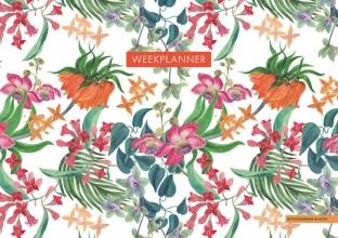 ZNU , Weekplanner - Tropical Flowers