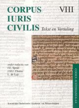 , Corpus Iuris Civilis VIII; Codex Justinianus 4 - 8 VIII Codex Justinianus iv-viii