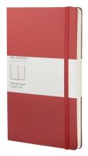 , Notitieboek Moleskine large 130x210mm lijn rood