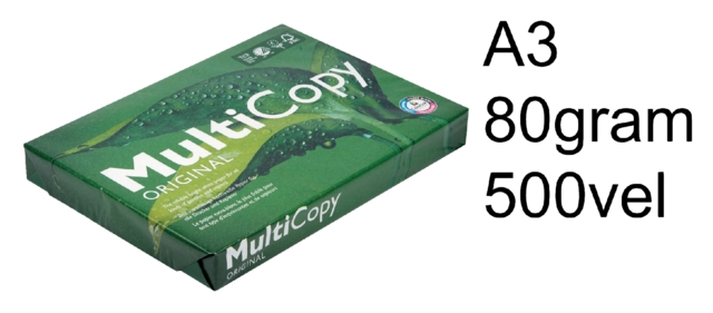 ,Kopieerpapier Multicopy Zero A3 80gr wit 500vel