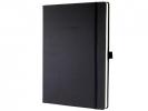 ,notitieboek Sigel Conceptum Pure hardcover A4+ zwart geruit