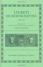 Cyril Bailey Lucretius De Rerum Natura