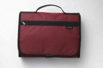 Tri-fold Organizer Cranberry Large Book & Bible Cover