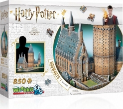 W3d-2014,Wrebbit puzzel 3d - harry potter hogwarts great hall - 850